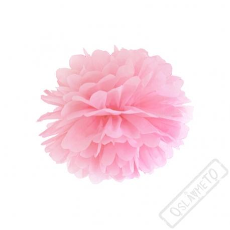 Papírová Pom pom koule růžová 25cm