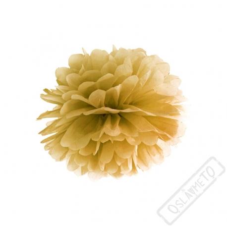 Papírová Pom pom koule zlatá 25cm
