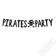Papírová girlanda Pirátská party