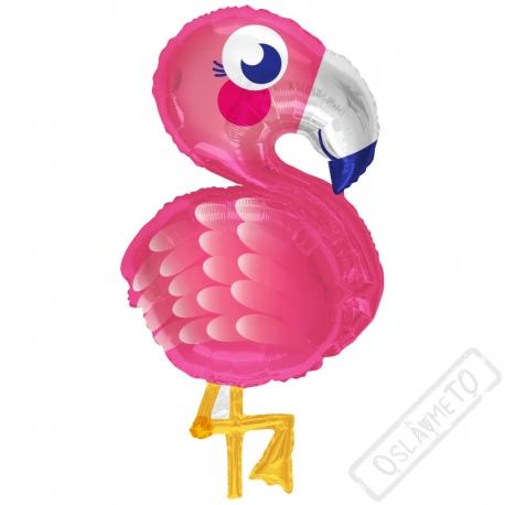Nafukovací balón fóliový Flamingo 71cm