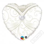 Nafukovací balónek Srdce Nevěsta 45cm