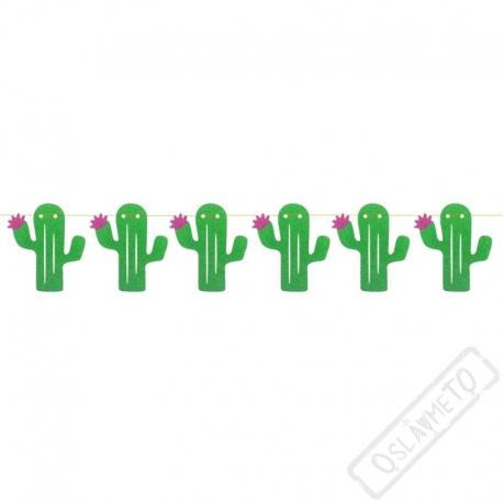 Papírová party girlanda Kaktus