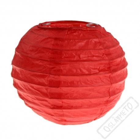 Dekorační papírový lampion XS červený