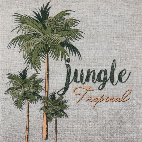 Papírové party ubrousky Tropical
