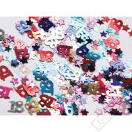 Dekorační konfety na stůl číslo 18 Color