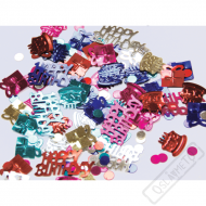 Dekorační konfety na stůl Narozeniny Color