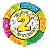 Nafukovací balónek Animal s číslem 2, 45cm