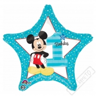 Nafukovací balónek 1.narozeniny Mickey 45cm