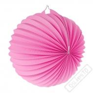 Papírový lampion kulatý růžový