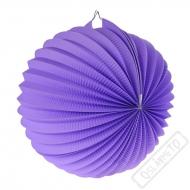 Papírový lampion kulatý fialový