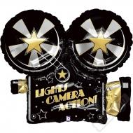 Nafukovací balón fóliový Kamera Hollywood 81cm