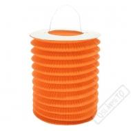 Závěsný lampion válec oranžový