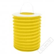 Závěsný lampion válec žlutý