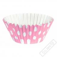 Košíčky na muffiny s puntíky růžové