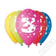 Nafukovací balónek latexový s číslem 3 mix