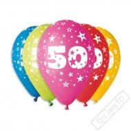 Nafukovací balónek latexový s číslem 50 mix