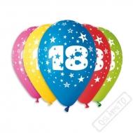 Nafukovací balónek latexový s číslem 18 mix
