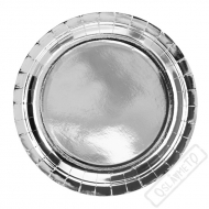 Papírové party talíře stříbrné