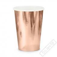 Papírové metalické kelímky Rose-gold