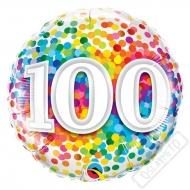 Narozeninový balónek Confetti číslo 100, 45cm