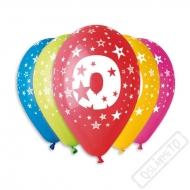 Nafukovací balónek latex s číslem 0 mix