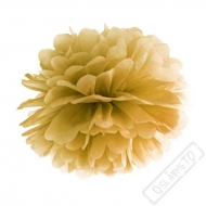 Papírová Pom pom koule zlatá 35cm