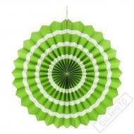 Závěsná papírová rozeta pruhovaná zelená