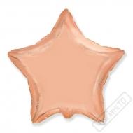 Nafukovací balónek fóliový Hvězda Rose-gold 45cm