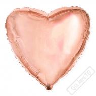 Nafukovací balónek fóliový Srdce Rose-Gold 45cm