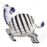 Závěsný papírový lampion Zebra