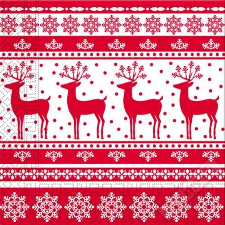Vánoční papírové ubrousky Oh Deer