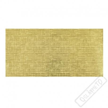 Metalická dárková obálka na peníze zlatá