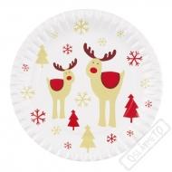 Papírové vánoční talíře Sob Rudolf