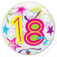 Nafukovací balón bublina s číslem 18, 56cm