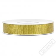 Brokátová stuha šíře 1cm zlatá