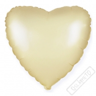 Nafukovací balónek Srdce Satén zlaté 45cm