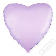 Nafukovací balónek Srdce Satén lila 45cm