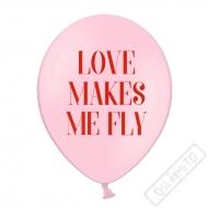 Latexový balónek s potiskem Love makes me fly