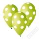 Latexový balónek s puntíky zelený