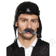 Umělý nalepovací knír Pilot prošedivělý