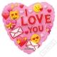 Nafukovací balónek Srdce Emoticon 46cm