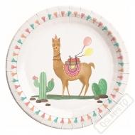 Papírové party talíře Lama