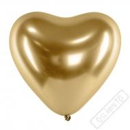 Balónek latexový srdce Glossy Gold 30cm