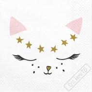 Papírové party ubrousky Kočka