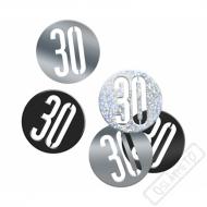 Dekorační konfety na stůl číslo 30 černé
