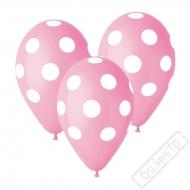 Latexový balónek s puntíky růžový