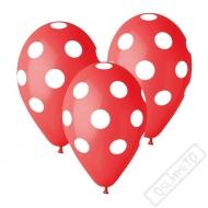 Latexový balónek s puntíky červený