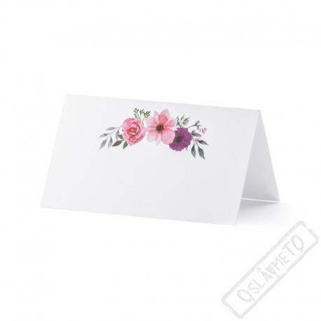 Papírové jmenovky na stůl Floral