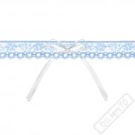 Svatební podvazek krajkový modrý