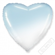 Nafukovací balónek Srdce Ombré azur 45cm